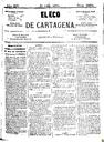 [Issue] Eco de Cartagena, El (Cartagena). 21/7/1874.