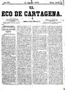 [Issue] Eco de Cartagena, El (Cartagena). 21/8/1875.