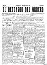 [Issue] Defensor del Obrero, El (Cartagena). 1/2/1911.