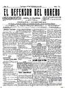 [Issue] Defensor del Obrero, El (Cartagena). 15/12/1911.